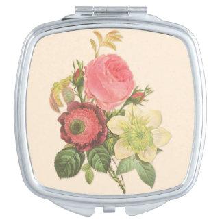 Vintage Bouquet Compact Mirror