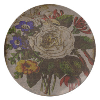 Vintage Bouquet Melamine Plate