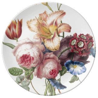 Vintage Bouquet Plate