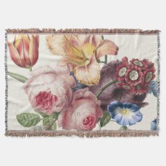 Vintage Bouquet Throw Blanket