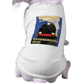 Vintage Bournemouth Belle Train Poster Pet Tshirt