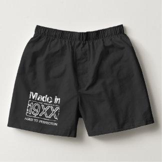 Vintage boxer shorts underwear for men's Birthday Boxers