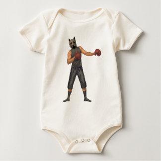 Vintage Boxer Westie Baby Bodysuit