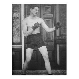 Vintage Boxing Champ Postcard