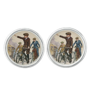 Vintage Boy Cyclists Cufflinks