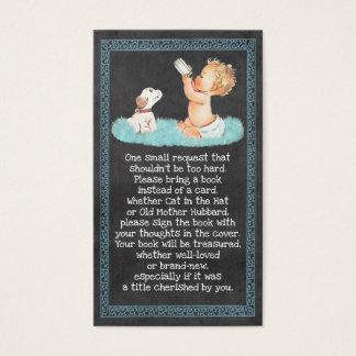 Vintage Boy & Puppy Chalkboard Book Requests 059 Business Card