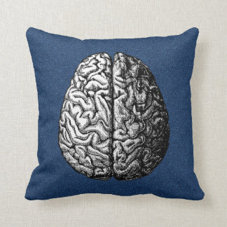 VINTAGE BRAIN DRAWING PILLOW