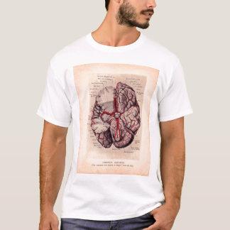 Vintage Brain Medical Illustration T-Shirt