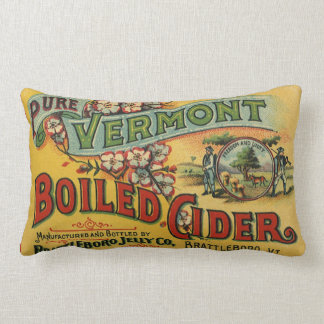 Vintage Brattleboro Jelly Boiled Cider Vermont Lumbar Pillow
