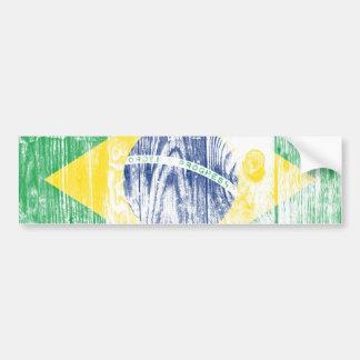 Vintage Brazil national flag Bumper Stickers