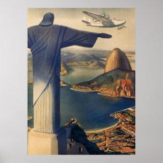 Vintage Brazil Poster