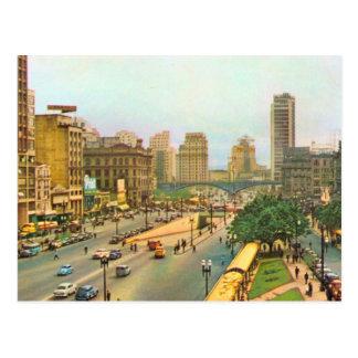 Vintage Brazil, Sao Paulo city centre Postcard