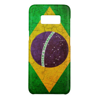 Vintage Brazilian flag on a cracked background Case-Mate Samsung Galaxy S8 Case