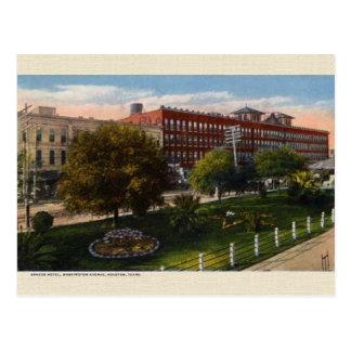 Vintage Brazos Hotel Houston Texas Postcard