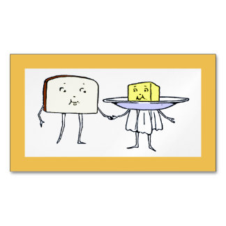 Vintage Breat and Butter Love Magnetic Card