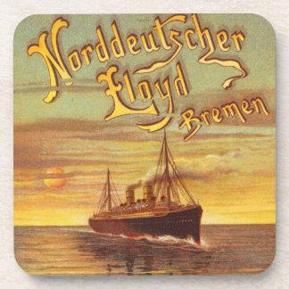Vintage Bremen Steamship Coaster Set