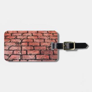 Vintage Brick Street Bag Tag