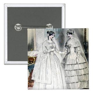 Vintage Bridal Brides Antique White Wedding Pin