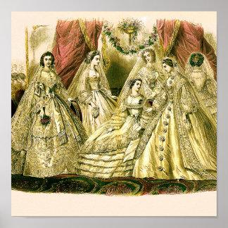 Vintage Bridal Brides Antique White Wedding Poster