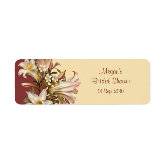 Vintage Bridal Shower Avery Label Return Address Label