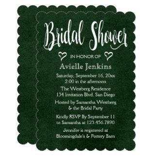 Vintage Bridal Shower Distressed Green White Heart Card