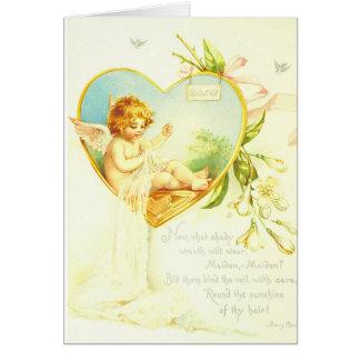 Vintage Bridal Veil Card