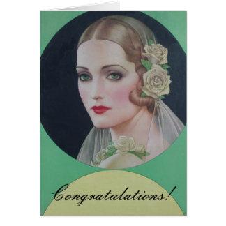 Vintage Bride 1931 Card