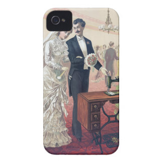 Vintage Bride And Groom Illustration iPhone 4 Covers