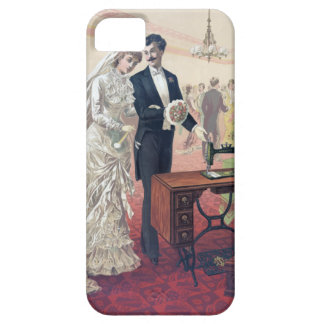 Vintage Bride And Groom Illustration iPhone 5 Cover