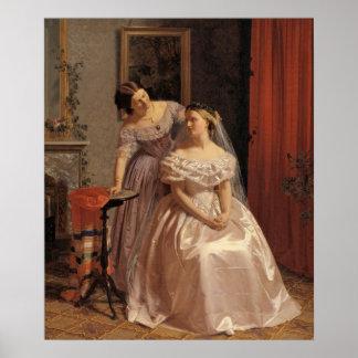 Vintage Bride, Bridesmaid, Maid of Honor Wall Art