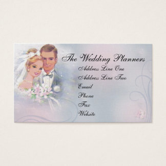 Vintage Bride & Groom Business Card