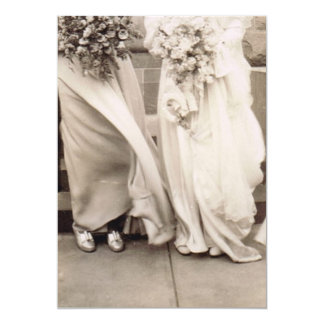 Vintage Bridesmaid and Bride Card