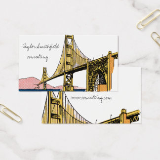 vintage bridge rustic trendy business card
