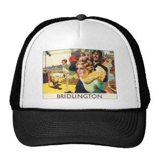 Vintage Bridlington England Resort Poster Mesh Hats