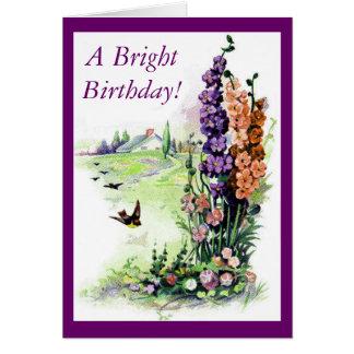 Vintage Bright Birthday Card