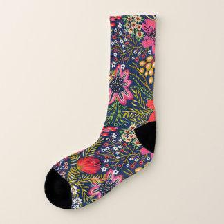 Vintage Bright Floral Pattern All-Over-Print Socks 1