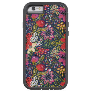 Vintage Bright Floral Pattern Fabric iPhone 6 Case
