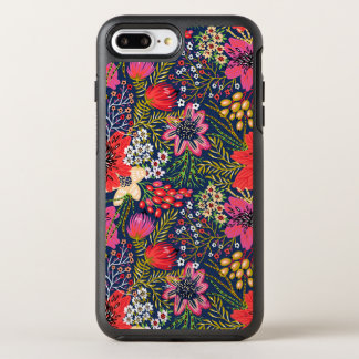 Vintage Bright Floral Pattern Fabric OtterBox Symmetry iPhone 7 Plus Case