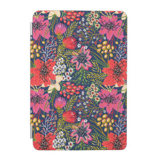 Vintage Bright Floral Pattern iPad Mini Cover