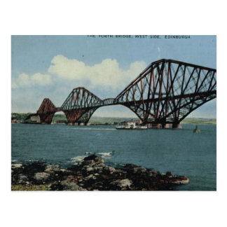 Vintage Britain, Edinburgh, Forth Bridge Postcard