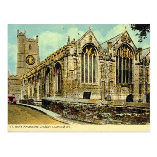 Vintage Britain, Launceston Parish Church Postcard