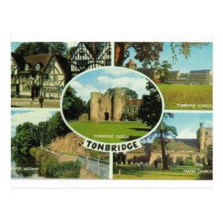 Vintage Britain, multiview, Tonbridge Kent Postcard