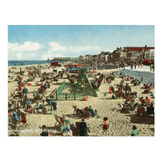 Vintage Britain, seaside holiday, Redcar Postcard