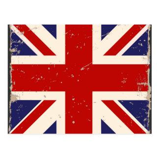 Vintage British Flag Postcard