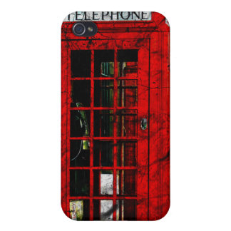 Vintage British Red Telephone Box iphone 4/4s case