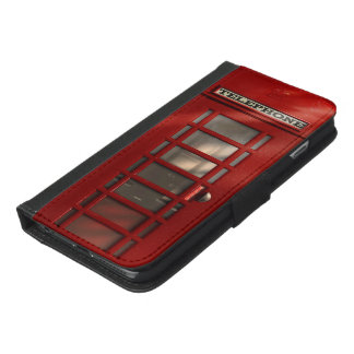 Vintage British Red Telephone Box iPhone 6/6s Plus Wallet Case