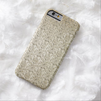 Vintage Brocade Damask Barely There iPhone 6 Case