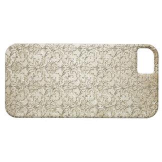 Vintage Brocade Damask Print iPhone 5 Cases