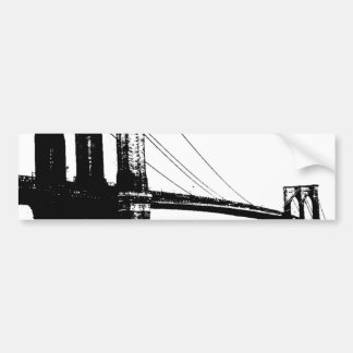 Vintage Brooklyn Bridge Bumper Sticker