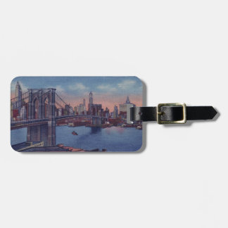 Vintage Brooklyn Bridge Luggage Tag